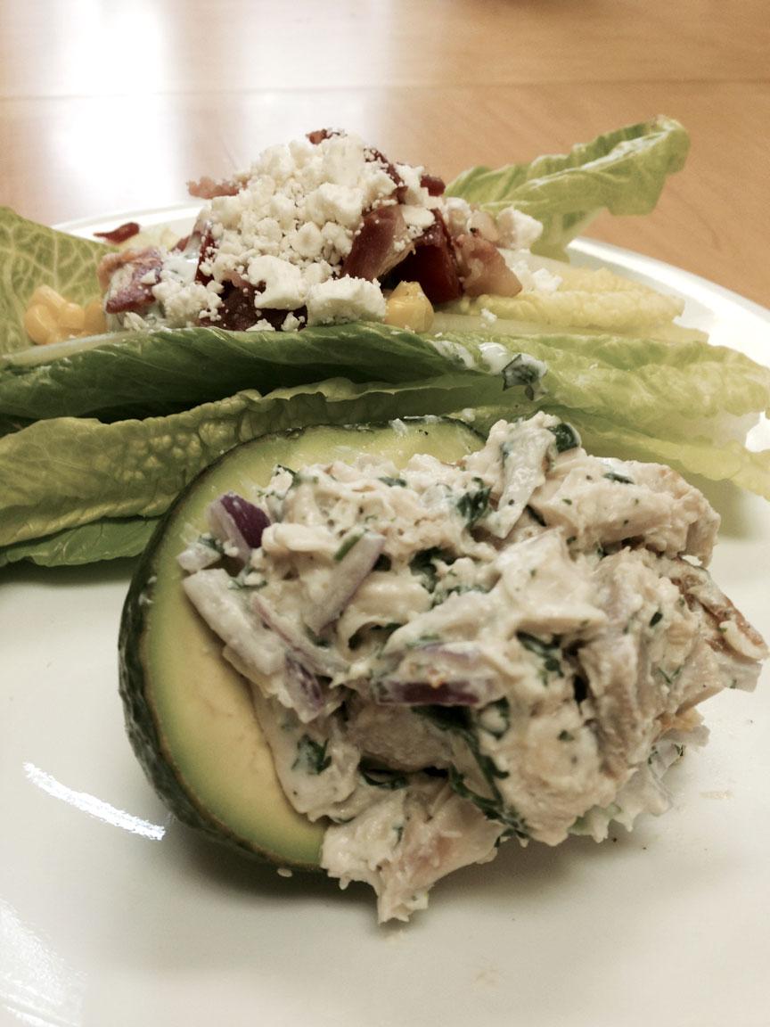 Southwestern Chicken Salad Stuffed Avocado