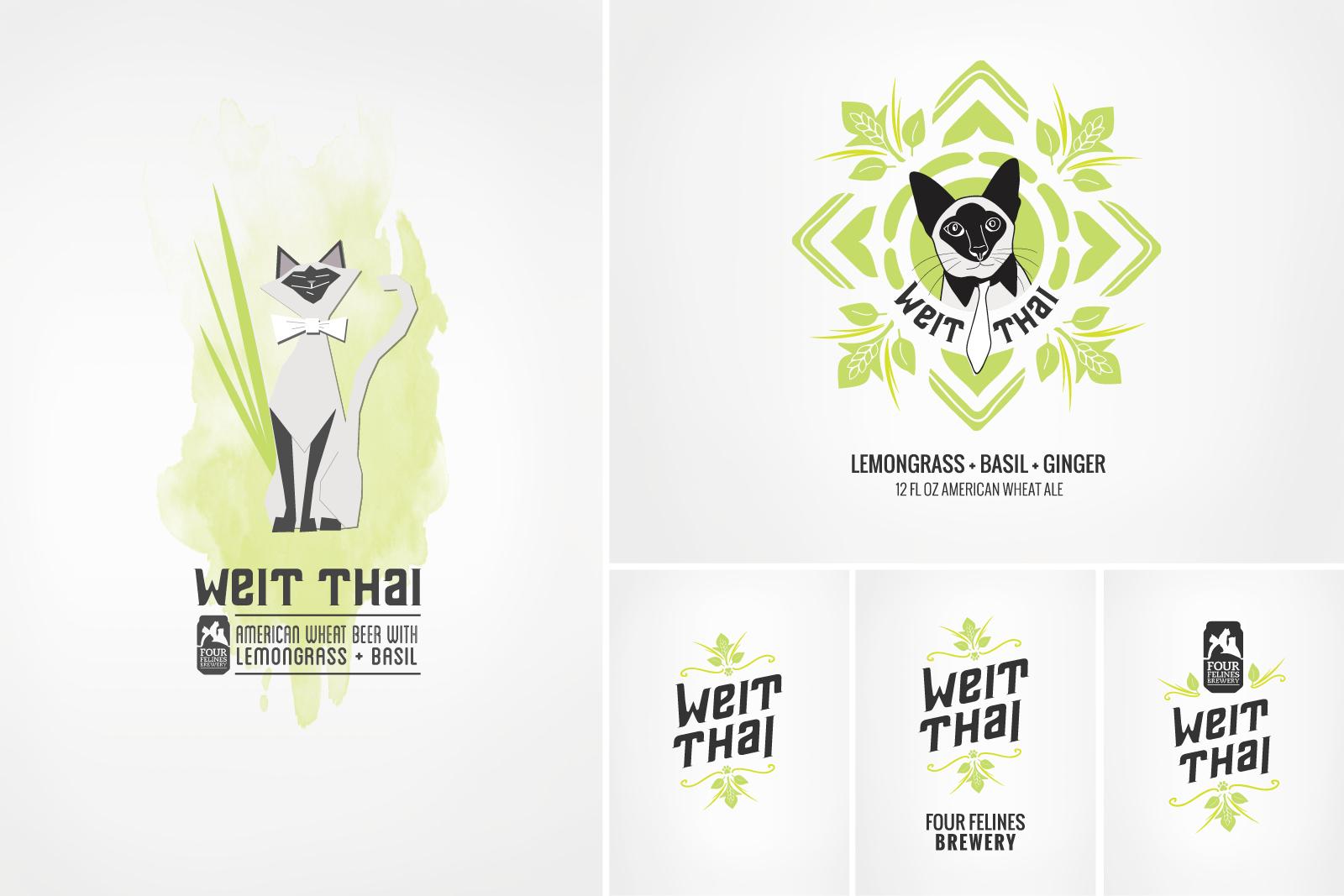 Weit Thai Beer Packaging Artwork Options