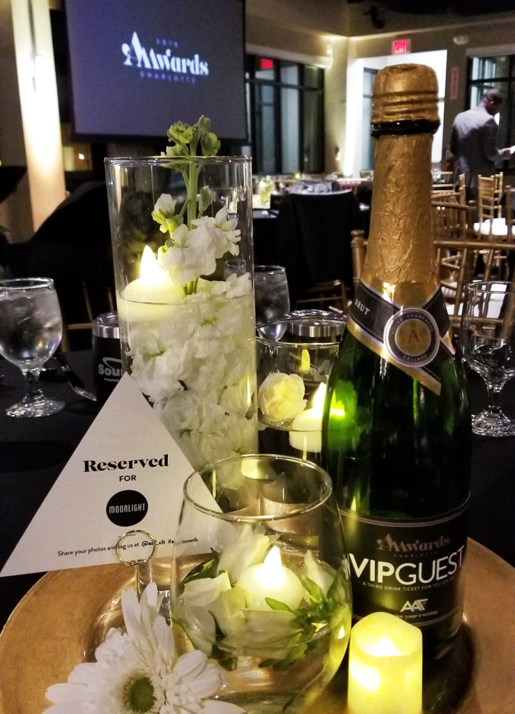 Moonlight's reserved table at the 2018 American Advertising Awards in Charlotte