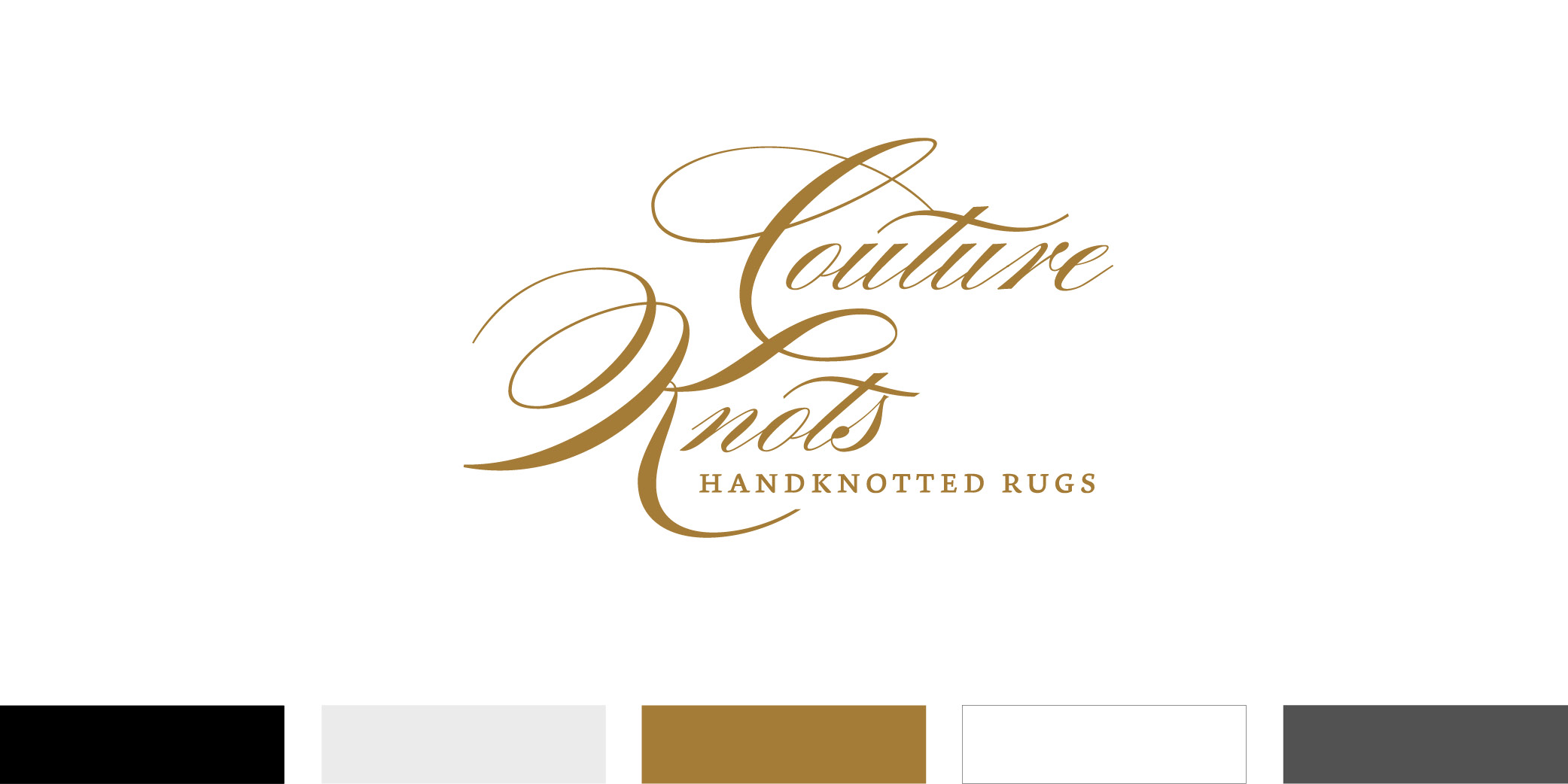 The Couture Knots logo uses a sophisticated and elegant typeface the represents the brand experience.