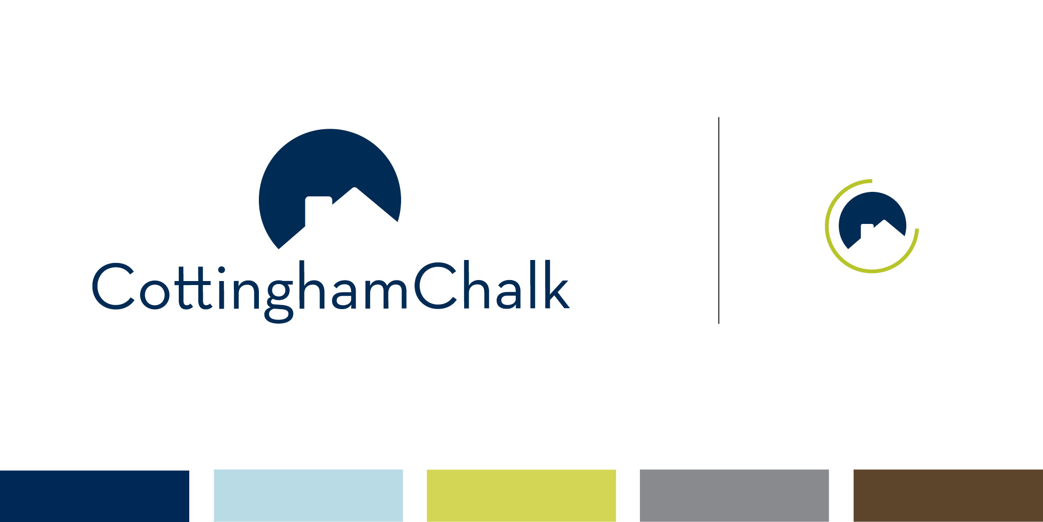 The Cottingham Chalk logo features both a typeface and design element.