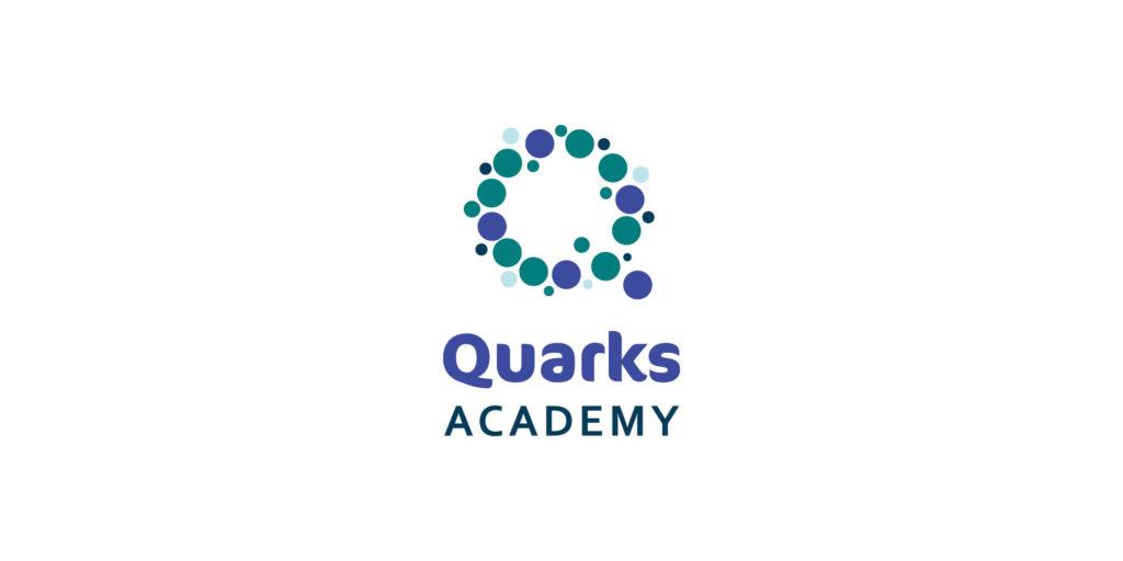 Quarks Academy logo designed by Moonlight Creative.