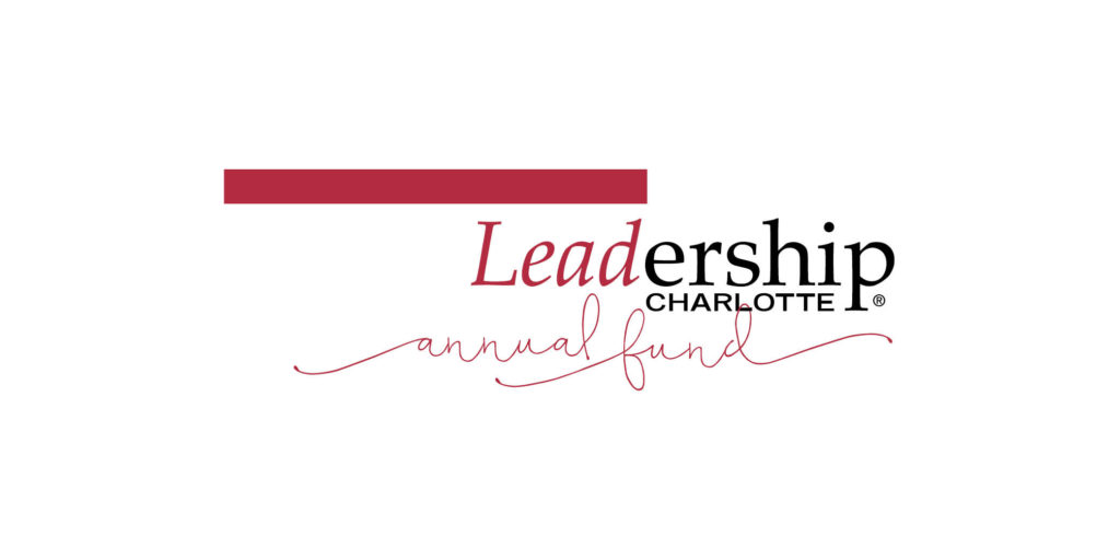 Leadership Charlotte Annual Fund logo designed by Moonlight Creative.
