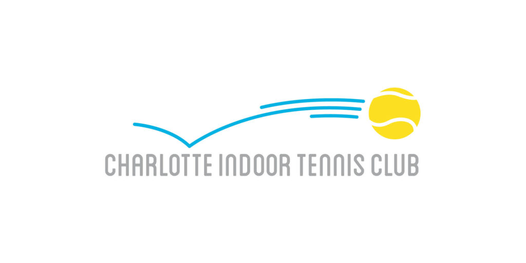 Charlotte Indoor Tennis Club logo designed by Moonlight Creative.