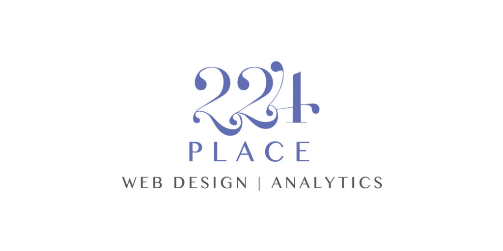 224 Place logo designed by Moonlight Creative.