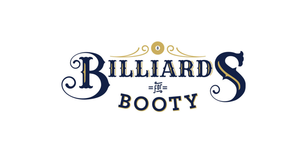 Billards for Booty logo designed by Moonlight Creative.
