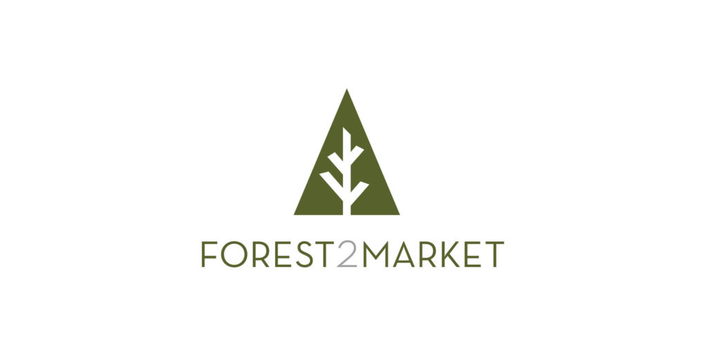 Forest2Market logo designed by Moonlight Creative.