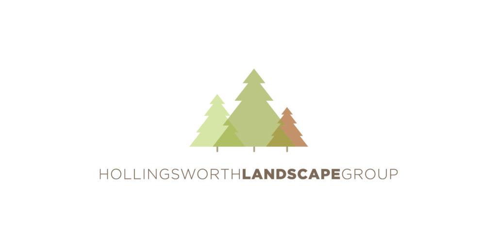 Hollingsworth Landscape Group logo designed by Moonlight Creative.