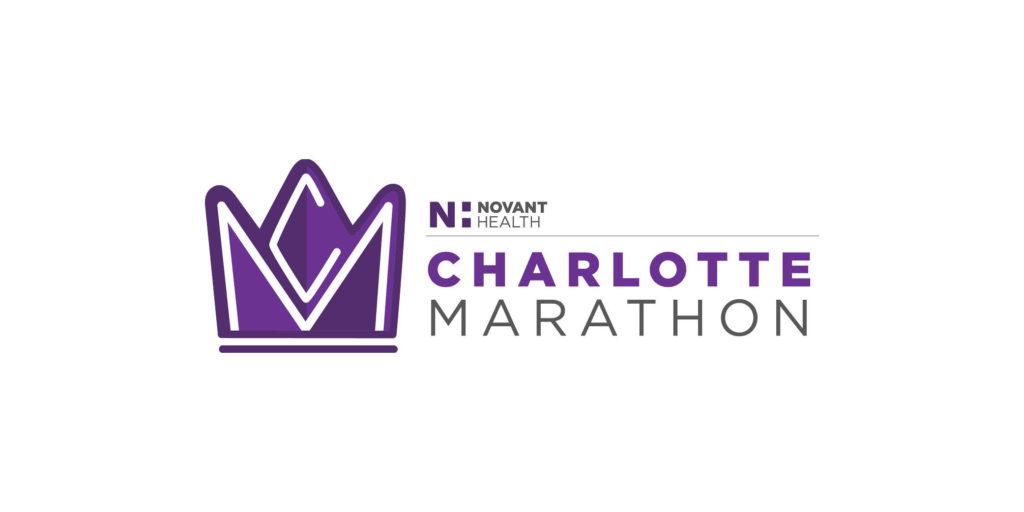 Novant Health Charlotte Marathon logo designed by Moonlight Creative.
